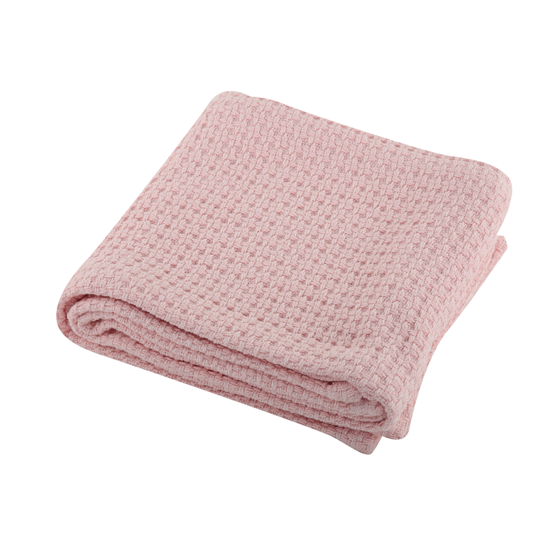 BABY CRADLE BLANKET MIRACLE PINK