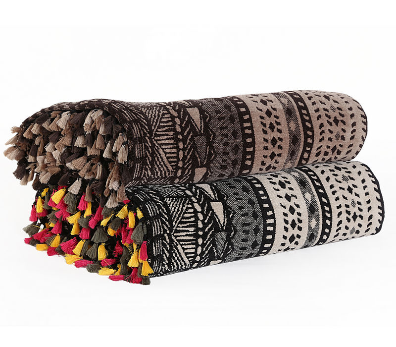 ARMCHAIR THROW WITH FRINGES AFRICA